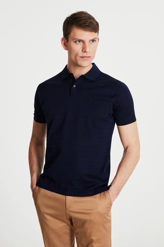Damat Lacivert 60/2 Merserize T-shirt - 8682364492350 | Damat Tween
