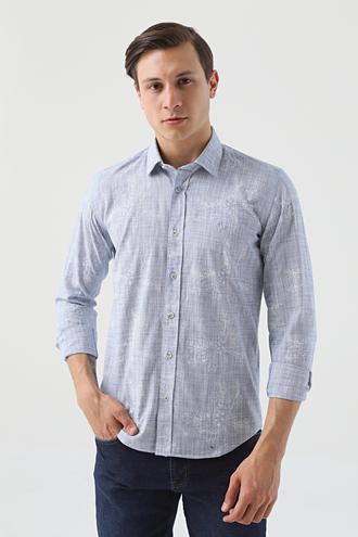 Ds Damat Slim Fit Mavi Gömlek - 8682445032147 | D'S Damat