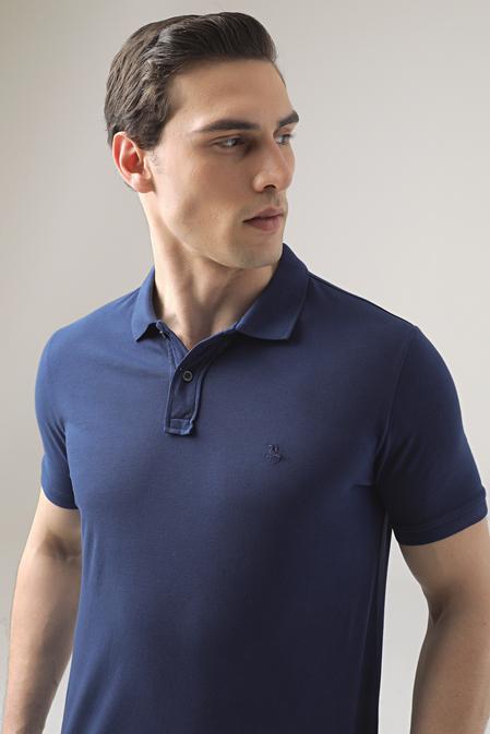 Ds Damat Regular Fit Saks Mavi Pike Dokulu T-shirt - 8682445033144 | D'S Damat