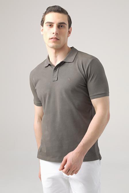 Ds Damat Regular Fit Antrasit Pike Dokulu T-shirt - 8682445033168 | D'S Damat