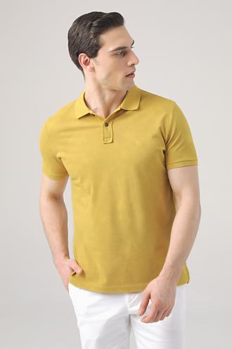 Ds Damat Regular Fit Safran Pike Dokulu T-shirt - 8682445033243 | D'S Damat