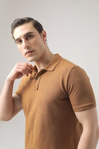 Ds Damat Regular Fit Tarçın Pike Dokulu T-shirt - 8682445033304 | D'S Damat