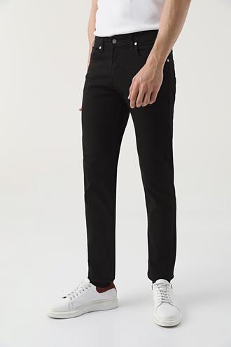 Ds Damat Slim Fit Siyah Düz Denim Pantolon - 8682445185621 | D'S Damat