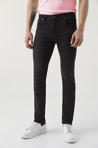 Ds Damat Slim Fit Siyah Düz Denim Pantolon - 8682445184457   D'S Damat