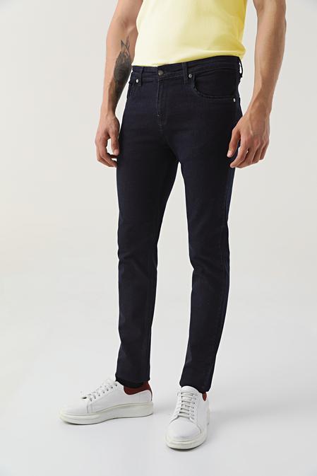 Ds Damat Slim Fit Lacivert Düz Denim Pantolon - 8682445190854 | D'S Damat