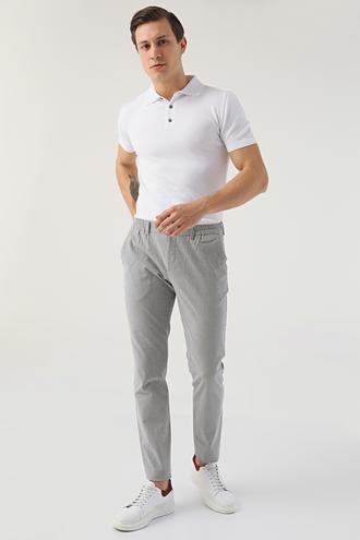 Twn Slim Fit Haki Çizgili Jogger Chino Pantolon - 8682060157782 | D'S Damat