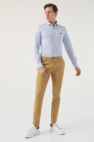 Twn Slim Fit Camel Armürlü Chino Pantolon - 8682060593306 | D'S Damat