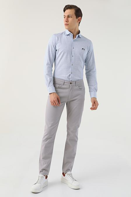 Twn Slim Fit Taş Dokulu Chino Pantolon - 8682445337143 | D'S Damat