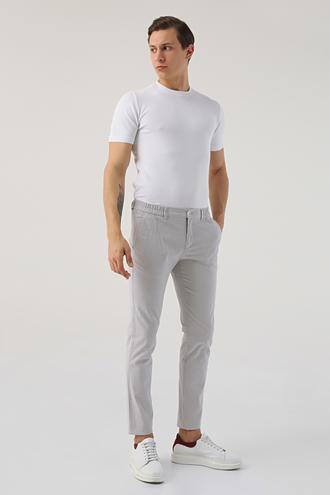 Twn Slim Fit Gri Çizgili Jogger Chino Pantolon - 8682445337815 | D'S Damat