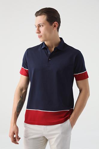 Damat Lacivert 60/2 Merserize T-shirt - 8682364492275 | Damat Tween
