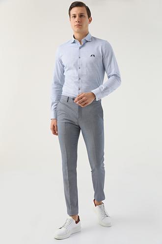 Twn Lacivert Armürlü Kumaş Pantolon - 8682060352514 | D'S Damat