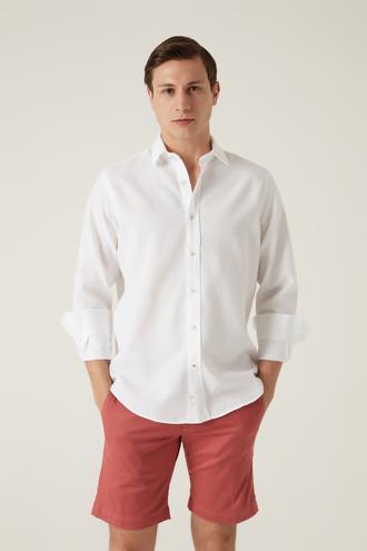 Damat Comfort Beyaz Gömlek - 8682364505456 | Damat Tween