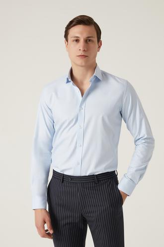 Tween Slim Fit Mavi Gömlek - 8682364699728 | Damat Tween