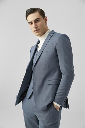 Tween Slim Fit Lacivert Yelekli Takım Elbise - 8681649444091 | Damat Tween