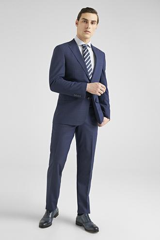 Ds Damat Slim Fit Lacivert Armürlü Takım Elbise - 8682060781246 | D'S Damat
