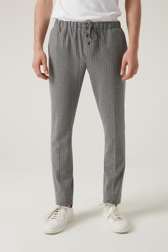 Tween Slim Fit Gri Örme Jogger Pantolon - 8682364527212 | Damat Tween