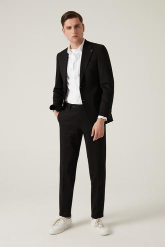 Damat Slim Fit Siyah Düz Takım Elbise - 8682364766598 | Damat Tween