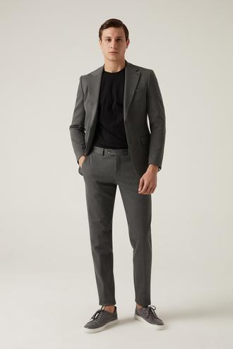 Damat Slim Fit Antrasit Düz Takım Elbise - 8682364766758   Damat Tween
