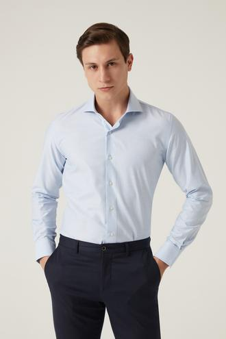 Damat Slim Fit Mavi Gömlek - 8682364649563 | Damat Tween