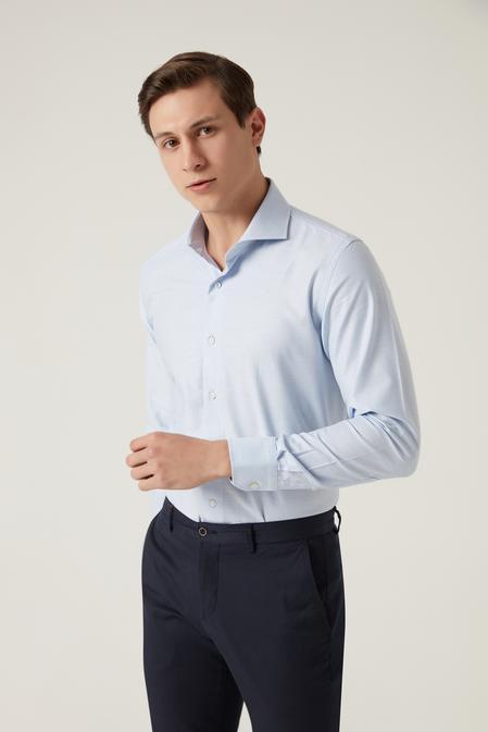 Damat Slim Fit Mavi Gömlek - 8682364504404 | Damat Tween