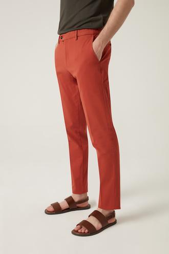 Damat Slim Fit Kiremit Chino Pantolon - 8682364511938 | Damat Tween