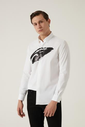 Tween Slim Fit Beyaz Gömlek - 8682364652839 | Damat Tween