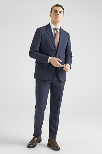 Ds Damat Regular Fit Lacivert Çizgili Takım Elbise - 8682060897664 | D'S Damat
