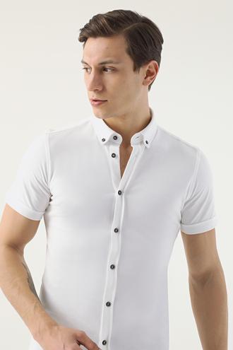 Twn Tokyo Kalıp Beyaz Gömlek - 8682445087536 | D'S Damat
