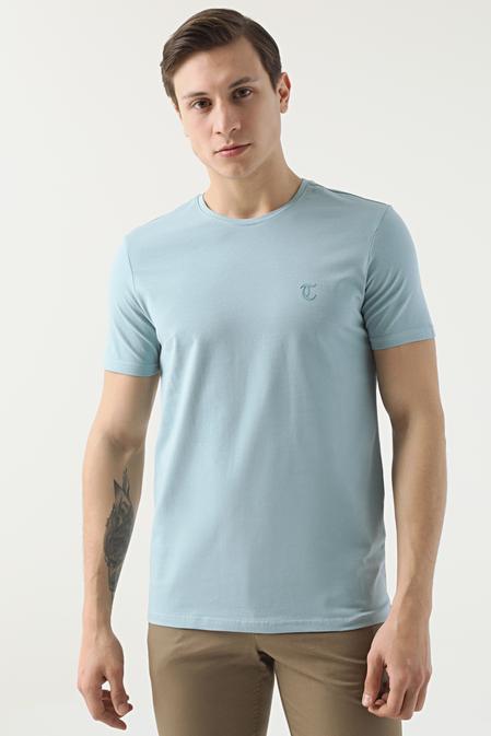 Twn Slim Fit Mint Düz T-shirt - 8682445164893   D'S Damat