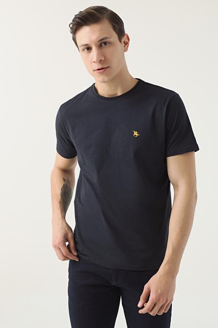 Ds Damat Regular Fit Lacivert Düz T-shirt - 8682445165739   D'S Damat