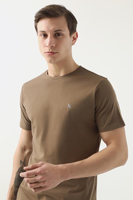 Ds Damat Regular Fit Vizon Düz T-shirt - 8682445165913   D'S Damat