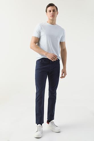Ds Damat Slim Fit Lacivert Chino Pantolon - 8681778021149 | D'S Damat
