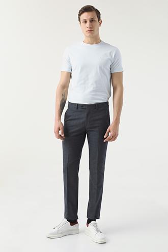 Ds Damat Slim Fit Lacivert Desenli Kumaş Pantolon - 8681778579183 | D'S Damat