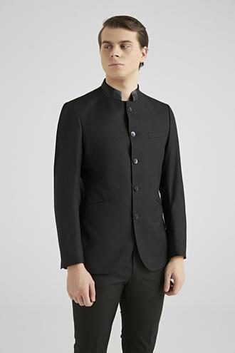 Twn Slim Fit Siyah Düz Travel Takım Elbise - 8681778928264 | D'S Damat