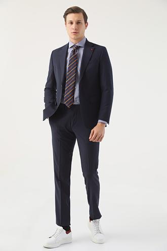 Ds Damat Regular Fit Lacivert Düz Travel Takım Elbise - 8682060212627 | D'S Damat