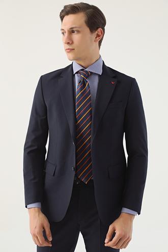 Ds Damat Regular Fit Lacivert Düz Travel Takım Elbise - 8682060022615 | D'S Damat
