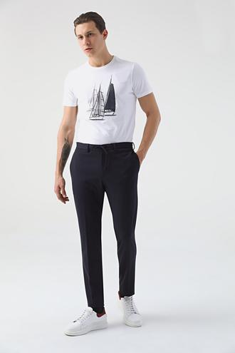 Tween Slim Fit Lacivert Örme Jogger Pantolon - 8682364709069 | Damat Tween