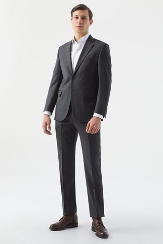 Ds Damat Regular Fit Antrasit Düz Takım Elbise - 8682445048643 | D'S Damat
