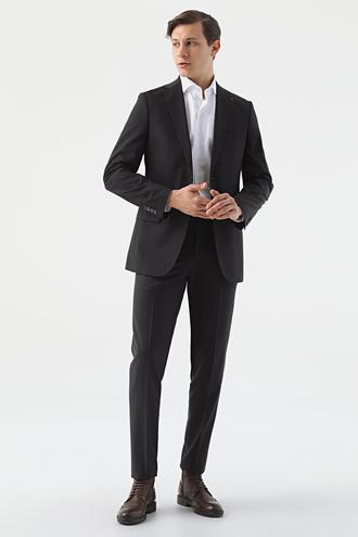 Ds Damat Regular Fit Siyah Düz Travel Takım Elbise - 8682445052299 | D'S Damat