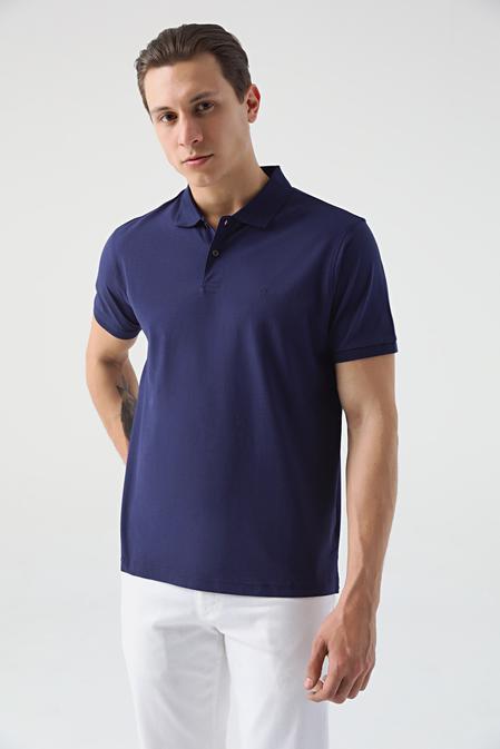 Damat Lacivert 60/2 Merserize T-shirt - 8682364492084 | Damat Tween