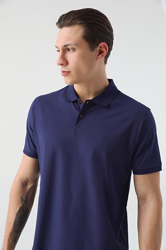 Damat Lacivert 60/2 Merserize T-shirt - 8682364784233 | Damat Tween