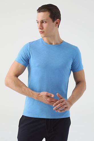 Tween Mavi Baskılı T-shirt - 8682364784646 | Damat Tween