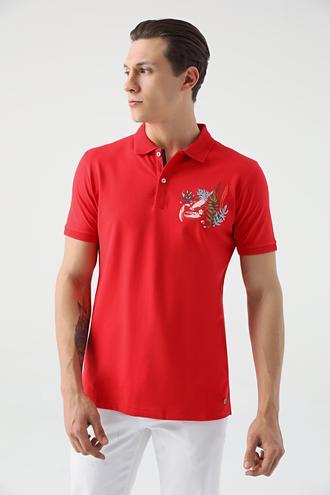 Tween Kırmızı Nakışlı T-shirt - 8682364498222 | Damat Tween