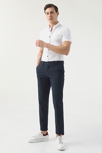 Ds Damat Slim Fit Lacivert Chino Pantolon - 8681778389140 | D'S Damat