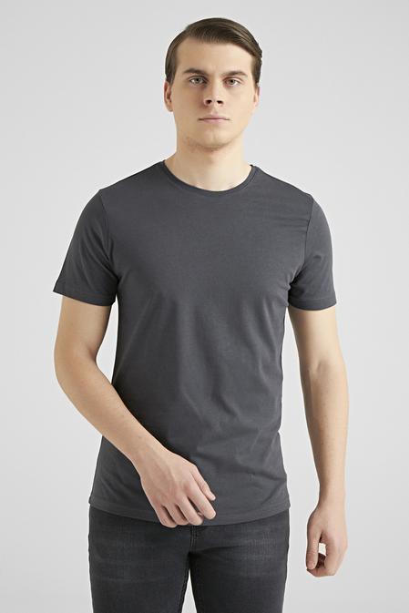 Ds Damat Slim Fit Antrasit T-shirt - 8682445085853   D'S Damat