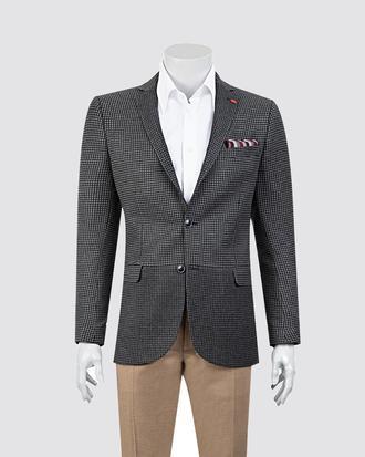 Twn Slim Fit Antrasit Desenli Kumaş Ceket - 8681778712054 | D'S Damat