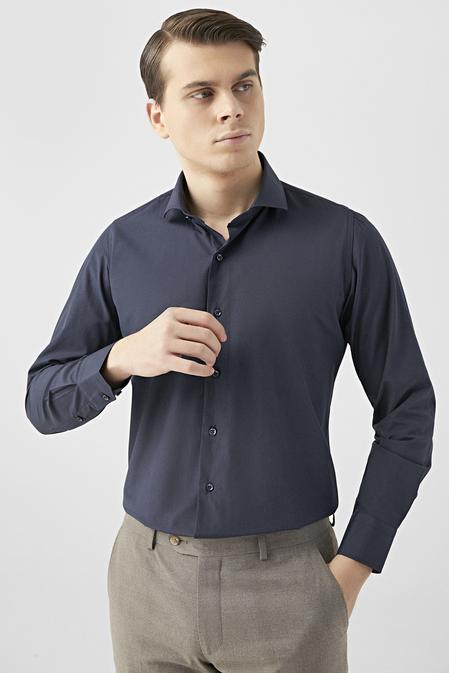 Ds Damat Slim Fit Lacivert Gömlek - 8682445069990   D'S Damat