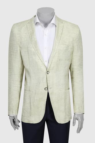Tween Slim Fit Yeşil Düz Kumaş Ceket - 8681649459491   D'S Damat