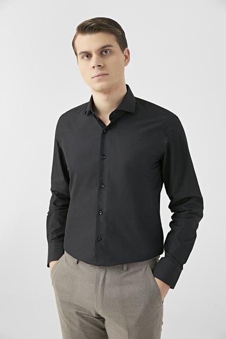 Ds Damat Slim Fit Siyah Gömlek - 8682445177008 | D'S Damat