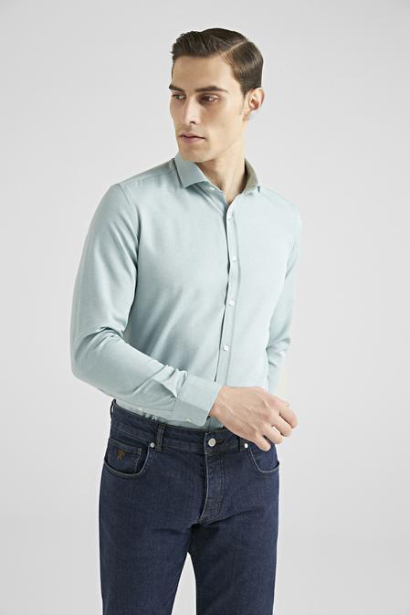 Twn Slim Fit Yeşil Oxford Gömlek - 8682445168594   D'S Damat